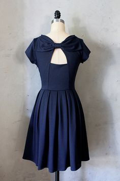 HOLLY GOLIGHTLY in NAVY  Navy blue dress with by FleetCollection, $68.00