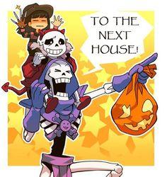 Halloween Undertale by Kimisouka.deviantart.com on @DeviantArt