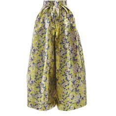 DELPOZO     Floral Wide Legged Trousers ($2,600) ❤ liked on Polyvore featuring pants, print, high-waisted trousers, high rise pants, patterned pants, floral wide leg pants and high waisted wide leg pants