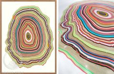 WOODRING # 5: Woodrings Series reflect the meaning of a concentric layer of wood, developed during an annual or other regular period of growth. Handcrafted unique art.  Browse the different art prints on www.snedkerstudio... - and choose your favorite