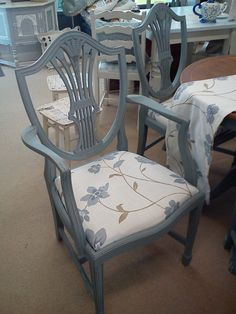 Hepplewhite style back chair, part of a six chair and table set.