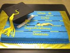 Swimmer's Graduation on Cake Central