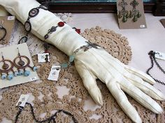 Stuffed glove - Bracelet display | Flickr - Photo Sharing!