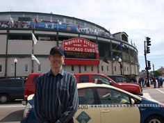 Every once in a while, in front of the camera. At historic Wrigley Field in Chicago.