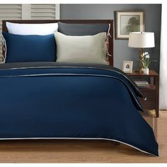 Wrinkle Resistant 600 Thread Count Bahama Solid 3-piece Duvet Cover Set - Overstock™ Shopping - Great Deals on Duvet Covers
