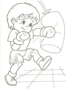 Valentina Kamalova Sports Coloring Pages, Cartoon Coloring Pages, Colouring Pages, Coloring Sheets, Adult Coloring, Coloring Books, Cartoon Kids, Cute Cartoon, Children's Book Characters