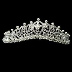 Chic Alloy With Rhinestone And Pearl Bridal Tiara – USD $ 24.99