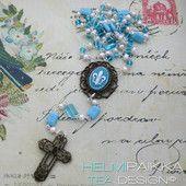Turkoosi rukousnauha #rukousnauha #rosario #usko #rakkaus #risti #kristinusko