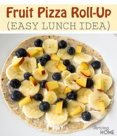 These fruit pizza roll-ups are so easy for kids to whip up! Pick your favorite fruits and let your kids have at it.