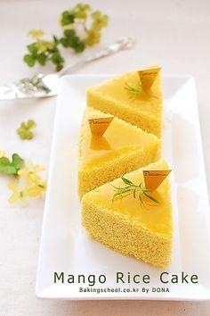 Mango Rice Cake | Bakingschool.co.kr