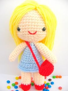Free amigurumi pattern little girl Kate — A free tutorial site for amigurumi beginners- Get Free & Easy Tutorial.