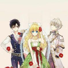 It's a love triangle. Anime Cupples, Anime Couples Manga, Chica Anime Manga, Anime Chibi, Anime Art, Manhwa, Cute Anime Coupes, Manga Collection, Ecchi