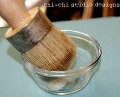 how to wax furniture using Annie Sloan wax