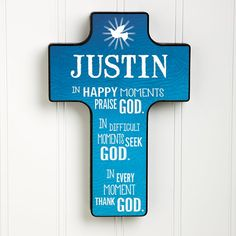 This Personalized Cross is beautiful! It comes in 5 stunning colors and you can personalize it with any name - it's the perfect First Communion Gift or Baptism Gift!