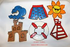 Cristin's Cookies: Beach Ball Cookies