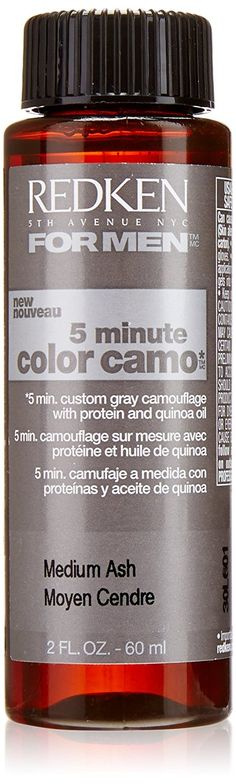 Redken 5 Minute Hair Color for Men, Medium Ash, 2 Ounce >>> Awesome product. Click the image : Hair Scalp Care