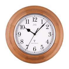 Rádiem řížené nástěnné hodiny JVD NR27043/68 Clock, Home Decor, Products, Diamond, Wall Clocks, Timber Wood, Decorations, Round Round, Watch