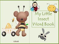 Enjoy teaching the names of different insects with this little trace and color word book.