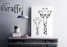 giraffe free SVG, PNG, DXF, EPS cut file download compatible with Cricut, Cameo Silhouette free cut files