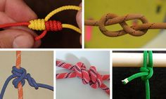 How to Tie Knots: 17 Essential Knots You Need to Learn - If you want to prepare yourself for an emergency, learning how to tie knots important. Here are 17 essential knots you need to learn how to tie today. Girls Camp Certification, Fishing Hook Knots, Bowline Knot, Rope Knots, Tying Knots, Seashell Crafts, Paracord, Trees To Plant, Helpful Hints