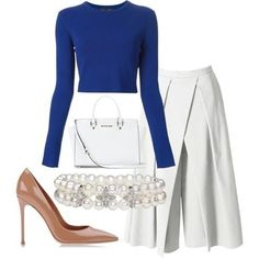 Royal and Pearls  stancilliving  wearitloveit  getthelook  shopthelook  Ανοιξιάτικη Μόδα 94360a7b99f