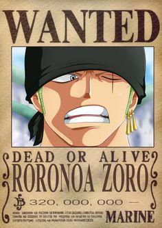 Zoro Dressrosa Wanted Poster by OliverLastra23.deviantart.com on @DeviantArt