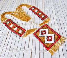 Vintage Native American Beadwork Statement by RetroRevivalBoutique