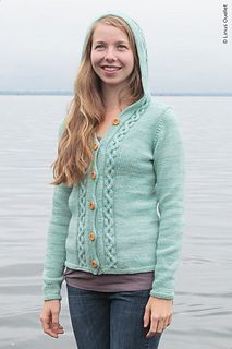 Piscataqua hooded cardigan, great back detail
