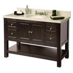 Foremost International - Gazette 48 Inch Vanity - Home Depot Canada