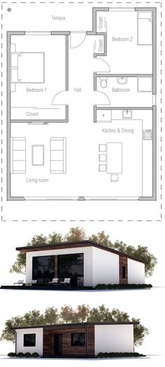 Affordable two bedroom house plan. two bedroom house design, 1 bedroom house plans, Two Bedroom House Design, 1 Bedroom House Plans, Guest House Plans, Small House Plans, House Floor Plans, Low Cost House Plans, Simple Floor Plans, Affordable House Plans, Guest Houses