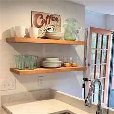 J Thomas, Rustic Shelves, White Oak, Floating Shelves, Shelving, Kitchen, Home, Style, Rustic Shelving