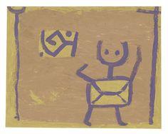 パウル・クレー『無題(子どもと凧)』1940年頃 パウル・クレー・センター(ベルン)蔵 ©Zentrum Paul Klee c/o DNPartcom(裏表に制作)