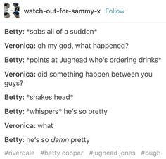 Don't ship bughead but this is cute as all hell