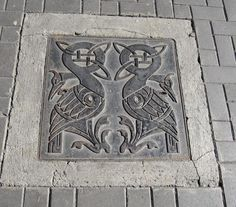 Manhole cover, Dublin, Ireland