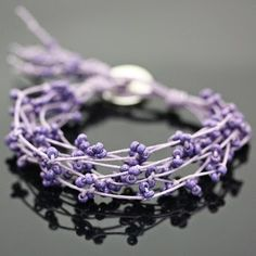 DIY bracelet...at first glance, I thought it was lavender...