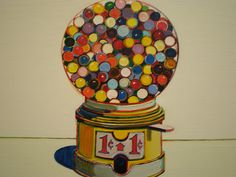 Wayne Thiebaud 1963 'Jawbreaker Machine', Nelson-Atkins Museum of Art, Kansas City, Missouri by hanneorla, via Flickr