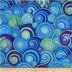 Kaffe Fassett Spiral Shells Blue No idea what I would sew with this but it's cool looking. What would you make with it?