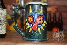 ZELDA Majora's mask chope à bière unique par ArtistelesTordusLand sur Etsy https://www.etsy.com/ca-fr/listing/236466571/zelda-majoras-mask-chope-a-biere-unique