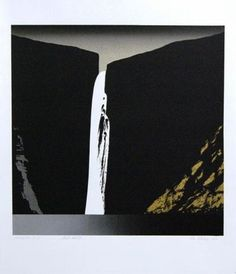 yama-bato: Per Kleiva Tapestry, Tote Bag, Abstract, Illustration, Bags, Painting, Waterfall, Meet, Draw