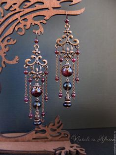 Bead wire and chain earrings