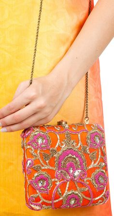 Orange french-knot clutch available only at Pernia's Pop-Up Shop. Get it here: http://www.perniaspopupshop.com/designers-1/love-to-bag/lovetobag-orange-french-knot-clutch-lbc0813fkop.html