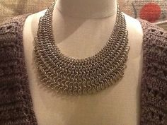 Intricate and Unique chain mail necklace by SalvagedBeautyNoDa
