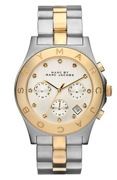 MARC BY MARC JACOBS 'Blade' Crystal Index Watch.