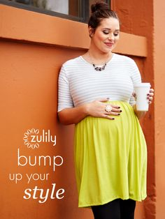 Check out zulily's daily selection of boutique maternity wear discounted up to 70% off! New styles are added each day so you can find the perfect outfit to dress up your bump!
