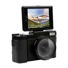 24.0 megapixel, 1080P HD video, makes the picture clearer. 3.0 inch large TFT display with 180 degree rotation. 4X digital zoom. The camera can be fitted with teleconverter ,wide angle lens,and flashlight.Support English,Chinese,Japanese,German,French,Spanish,Italian,Russian,Korean,Turkey,Portuguese,Dutch Support electronic anti shake function, allowing you to take smooth and stable images easily on the move.