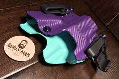 A personal favorite from my Etsy shop https://www.etsy.com/listing/537983468/glock-19-kydex-holster-purple-sky-blue