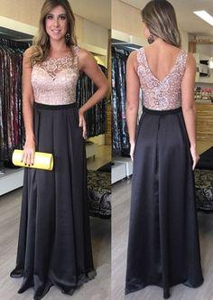 Pd70108 Charming Prom Dress,Lace Prom Dress,Satin Prom Dress,A-Line Evening Dress
