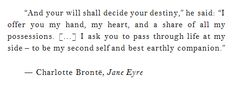 Jane Eyre and Mr. Rochester quotes - Google Search