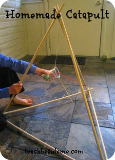 Construct a homemade catapult with Teach Beside Me