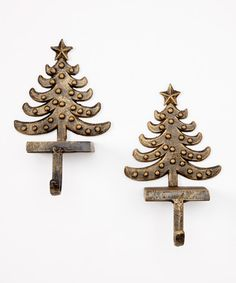 Take a look at this Christmas Tree Stocking Holder - Set of Two by Design Imports on #zulily today!